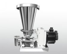 Twin screw volume feeder