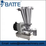 The batte volume of twin screw feeder